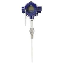 New process thermometer with centrically spring-loaded, exchangeable measuring insert