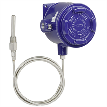 Gas-actuated temperature switch